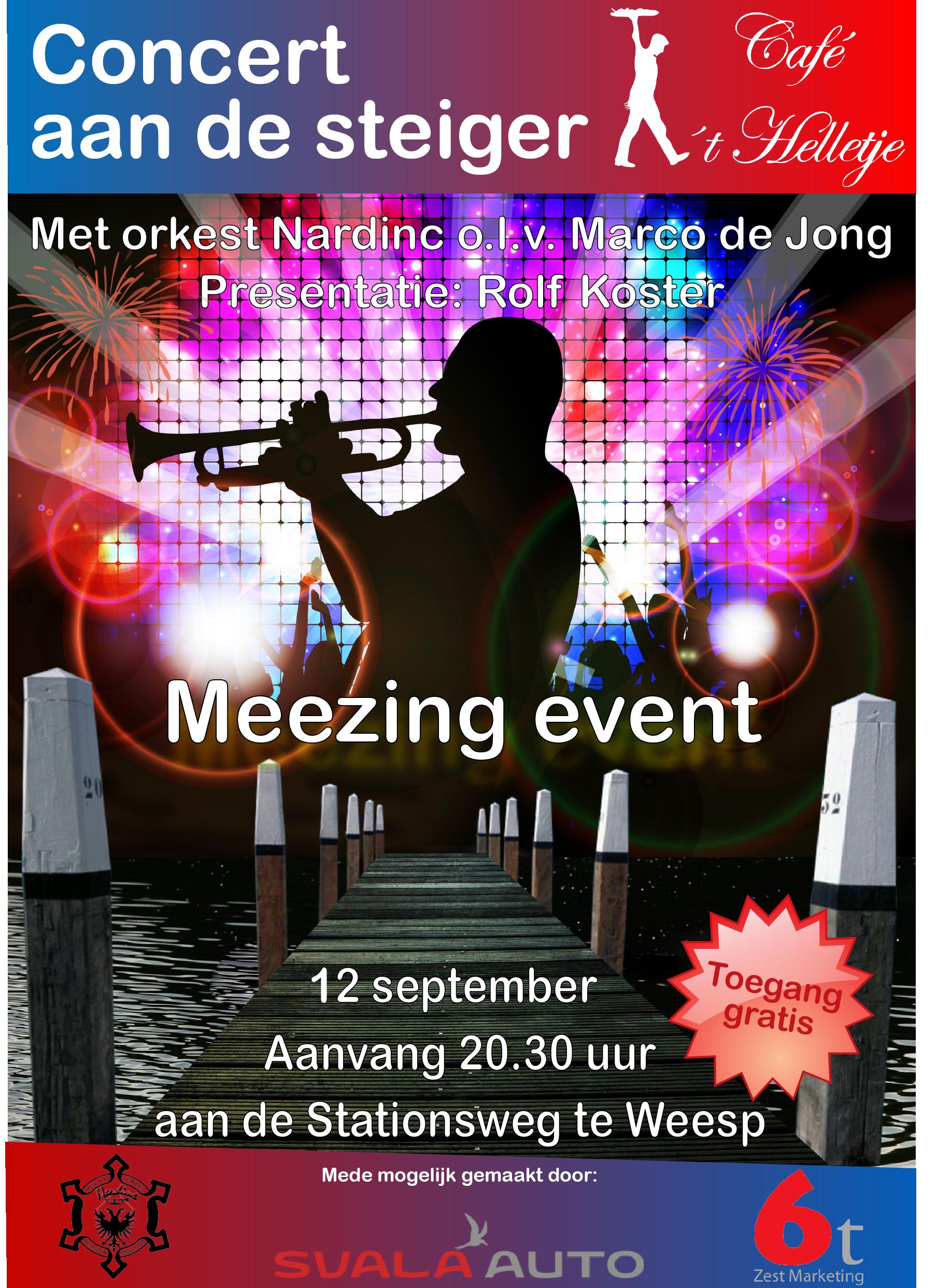 Concert aan de steiger poster